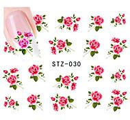 10pcs/set Hot Sale Nail Art Water Transfer Decals Beautiful Flower Design Nail Beauty Sticker DIY Beauty Decals STZ-030