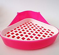 Hot new high-quality plastic pet cat toilet Grid small puppy cat toilet Bunny dedicated bedpan free delivery