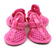 Dog Shoes & Boots Cute Casual/Daily Solid Fuchsia Blue For Pets