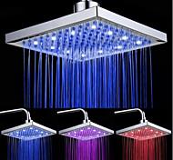 Недорогие -верхняя распылительная головка для душа с трехцветной световой цветовой температуры / 8 дюймов воды бустер верхней спрей (абс покрытие)