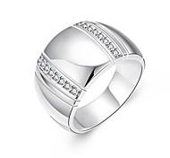 Women's Ring AAA Cubic Zirconia Basic Circular Unique Design Rhinestone Geometric Friendship Hypoallergenic Cute Style Euramerican Simple
