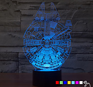 cheap -1Pcs   7Color Change 3D Night Light Led Lamp Millennium Falcon Led Lighting Home Decor Table Lamp Nightlight For Kid