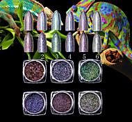 1PC Nail art Debris Super The Chameleon High-Grade 7 Colour Laser Powder