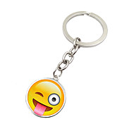 cheap -Key Chain Toys Key Chain Circular Metal 1 Pieces Unisex Christmas Valentine's Day Birthday Gift