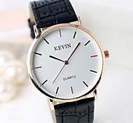 Недорогие -Муж. Для мужчин Модные часы Кварцевый Кожа Группа Винтаж На каждый день Cool Черный Белый Коричневый