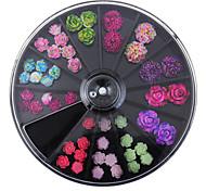 Недорогие -1set Украшения для ногтей Цветы / Мода Повседневные Дизайн ногтей / Акрил