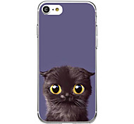 Black Cat For Ultra Thin Pattern Case Back Cover Case Soft TPU for iPhone 7 Plus 7 6s Plus 6 Plus 6s 6 SE 5s 5