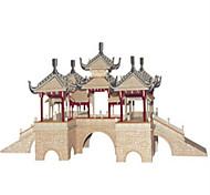 Набор для творчества Конструкторы 3D пазлы Обучающая игрушка Пазлы Деревянные пазлы Игрушки Квадратный Замок Знаменитое здание Китайская