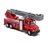 Недорогие -Игрушечные машинки Модели автомобилей Машинки с инерционным механизмом Пожарная машина Игрушки Пожарные машины Металлический сплав Металл