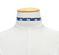 Жен. Ожерелья-бархатки Бижутерия Одинарная цепочка В форме звезды Ткань Базовый дизайн Мода По заказу покупателя Euramerican Простой стиль