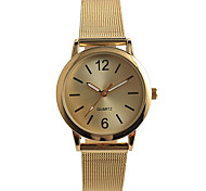 Women's Fashion Watch Quartz / Stainless Steel Band Casual Gold