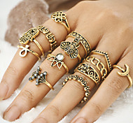 cheap -Women's Alloy Evil Eye - Evil Eye Unique Design Vintage Bohemian Gold Silver Ring For Party Daily Casual