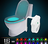 cheap -YWXLight® IP65 16 Colors Motion Activated Toilet Light Bathroom Night light Easy Clean