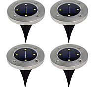 Pack of 4 Solar Ground Light for Garden Landscape Lighting Pathway Stairway Lamp