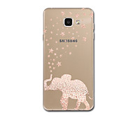 For Ultra Thin Pattern Case Back Cover Case Elephant Soft TPU for Samsung A3(2017) A5(2017) A7(2017) A7(2016) A5(2016) A8