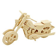 cheap -Robotime 3D Puzzles Jigsaw Puzzle Wood Model Moto 3D DIY Wood Classic Motorcycle Unisex Gift