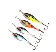 """4 pcs Spinner Baits Fishing Lures Buzzbait & Spinnerbait Green Orange Silver Blue g/Ounce mm/2-7/8"""" inch,MetalSea Fishing Spinning"""