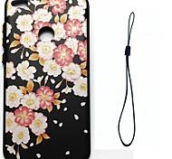 Para huawei p8 lite (2017) p10 caso tampa flor padrão injeção de combustível alívio chapeamento botão mais grosso tpu material telefone