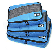 cheap -3 Pieces Travel Bag Travel Luggage Organizer / Packing Organizer Portable Foldable Durable Large Capacity Travel Storage Luggage Accessory