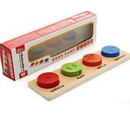 Недорогие -Обучающая игрушка Игры с последовательностью Для получения подарка Конструкторы Квадратный Круглый Треугольник Дерево 2-4 года 5-7 лет