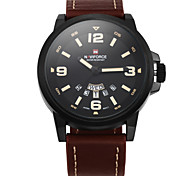 New Brand Fashion Men Sports Watches Men's Quartz Hour Date Clock Man Leather Strap Military Army Waterproof Wrist Watch Cool Watch Unique Watch