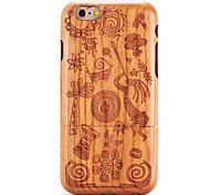Недорогие -Для яблока iphone 6 6s тисненый узор случае задняя крышка случае дерево зерна мультфильм твердый твердый деревянный