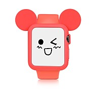 cheap -Silicone Watch Band and Watch Case For Apple Watch 3 Series 1 2 38mm 42mm Cute Cartoon Style Yellow Blue Black Pink White