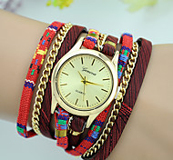 Women's Fashion Watch Bracelet Watch Quartz Colorful Fabric Band Casual Black Red Beige Navy Rose