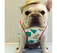 Dog Vest Dog Clothes Cute Casual/Daily Geometic Light Green