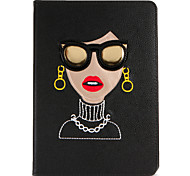 cheap -Case For Apple iPad Air 2 iPad Air with Stand Flip Pattern Full Body Cases Sexy Lady Hard PU Leather for iPad Air iPad Air 2 iPad 9.7