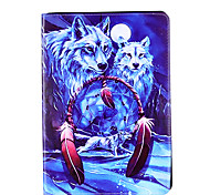 For Apple iPad Pro 9.7'' iPad 5 iPad 6 Case Cover Wolf Pattern Card Stent PU Material Flat Protection Shell