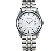 cheap -KINGNUOS Men's Fashion Watch Wristwatch Quartz Stainless Steel Band Cool Casual Calendar Simple Classic Business Watches