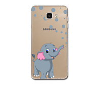 For Ultra Thin Pattern Case Back Cover Case Elephant Soft TPU for Samsung A5(2017) A7(2017) A7(2016) A5(2016) A3(2016) A8