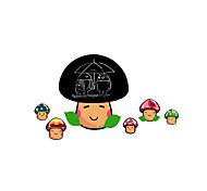 abordables -Tableau noir Botanique Bande dessinée Stickers muraux Autocollants avion Tableaux Noirs Muraux Autocollants Autocollants muraux décoratifs