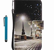 For Case Cover Card Holder Wallet with Stand Flip Pattern Full Body Case With Stylus City View Hard PU Leather for Apple iPhone 7 Plus 7 6s Plus 6s 5s