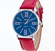 Недорогие -Мужской Модные часы Китайский Кварцевый Кожа Группа Повседневная Черный Белый Красный Коричневый
