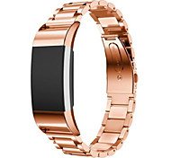 Three Bead Strap for Fitbit Charge 2 Smart Watch - ROSE GOLD