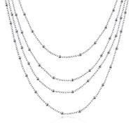 Жен. Ожерелья с подвесками Ожерелья-цепочки Пряди Ожерелья Бижутерия В форме звезды Медь Серебрянное покрытиеБазовый дизайн Уникальный