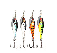 """4 pcs Spinner Baits Fishing Lures Buzzbait & Spinnerbait Green Orange Silver Blue g/Ounce mm/2-5/8"""" inch,MetalSea Fishing Spinning"""