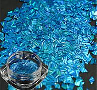 Недорогие -1 бутылка новой моды прекрасный голубой дизайн ногтей ромб лазерной полосой тонкий срез DIY красоты блеск ослепительно блестка украшения