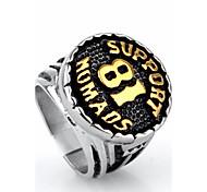Недорогие -Муж. Массивные кольца Кольцо На заказ Мода Панк Хип-хоп Рок Euramerican Титановая сталь Круглый Бижутерия Новогодние подарки Для