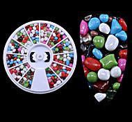 Недорогие -1pc коробка новый красочный камень частиц камень