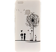 cheap -Case For Huawei IMD Pattern Back Cover Dandelion Soft TPU for P10 Lite P10 P8 Lite (2017) Honor 6X Huawei Y6 II / Honor Holly 3 Huawei Y5