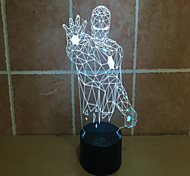 Lron Man 3 D Projection Lamp Touch Lamp LED Acrylic Visual Light