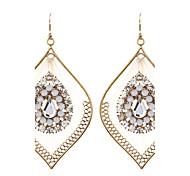 cheap -Women's Hoop Earrings Earrings Crystal Personalized Unique Design Bohemian Euramerican Fashion Adorable Chrome Round Circle Geometric