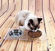 Недорогие -Кошка Собака Миски и бутылки с водой Кормушки Животные Чаши и откорма Водонепроницаемость Компактность Прозрачный