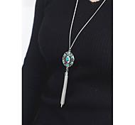 Недорогие -Жен. Ожерелья с подвесками  -  На заказ С логотипом Euramerican Серебряный Ожерелье Назначение Повседневные на открытом воздухе