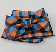 Men's Cotton Cravat & Ascot,Vintage Cute Party Work Casual Plaid All Seasons Orange Yellow Red