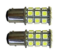2Pcs 1157 27*5050SMD LED Car Light Bulb White Light DC12V
