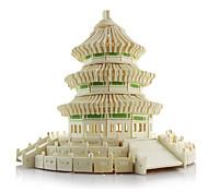 Недорогие -3D пазлы Пазлы Модель дерева Наборы для моделирования Знаменитое здание Китайская архитектура Архитектура Храм Неба моделирование Дерево